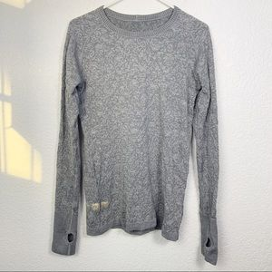 Lululemon Gray Thermal Long Sleeve Shirt Medium